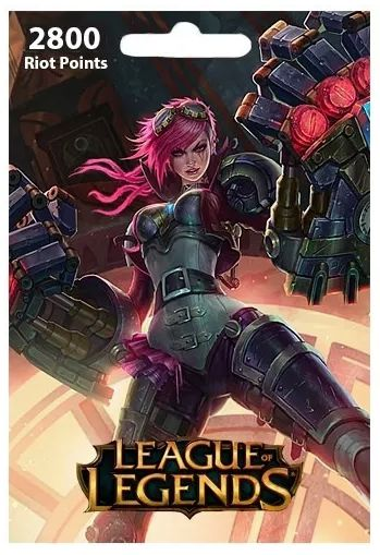 League of Legends 2800 RP Card (EU West+EU Nordic/East)