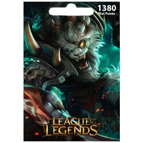 League of Legends 1380 RP Card (EU West+EU Nordic/East)