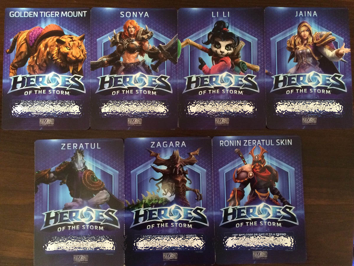 HEROES OF THE STORM (Starter Pack) 5 heroes/skin/mount
