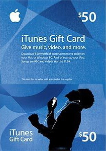 iTUNES GIFT CARD 50 $ USA (Code XX / PHOTO) DISCOUNTS