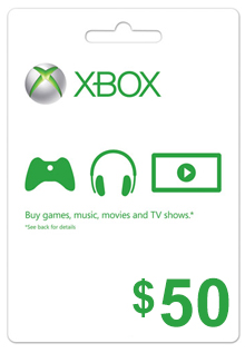 XBOX 50 $ GIFT CARD USA (PHOTO) DISCOUNTS