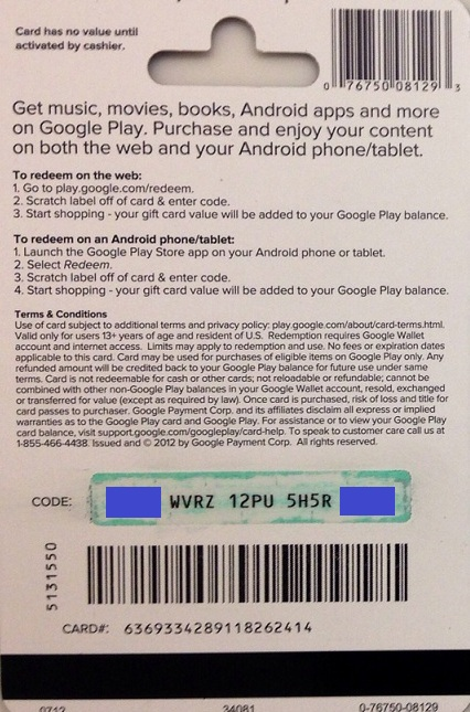 Free Google Play Gift Card Codes App - Gift Ideas