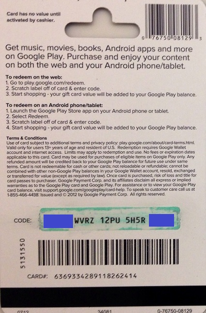 GOOGLE PLAY GIFT CARD $10 - USA (PHOTO) СКИДКИ
