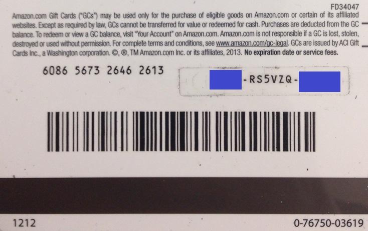 AMAZON $ 50 GIFT CARD (PHOTO) DISCOUNTS