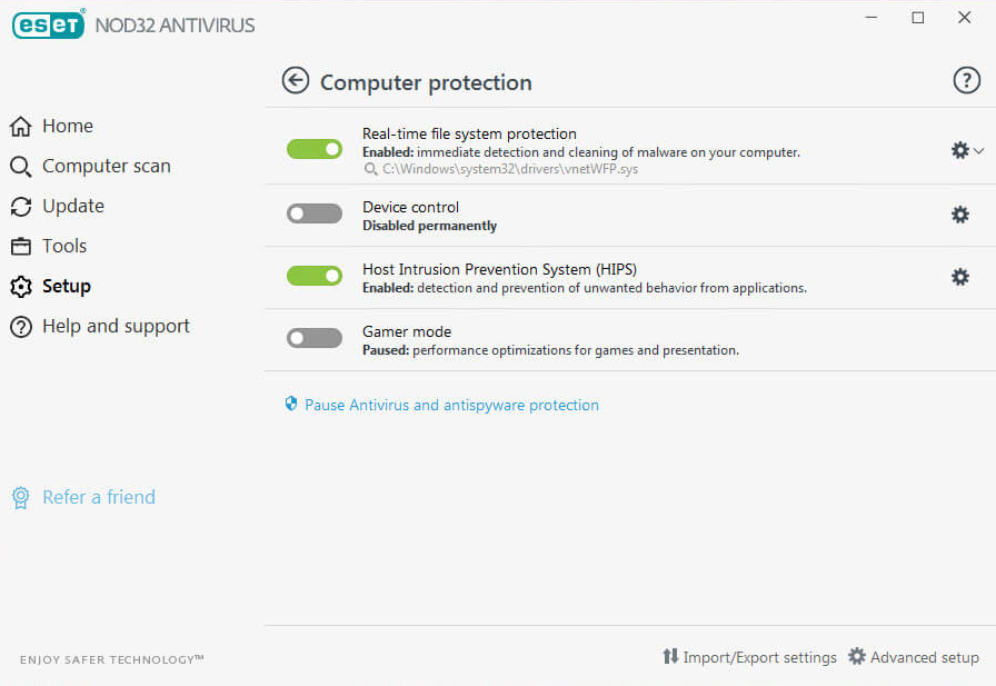 Nod32 antivirus (ESD) for 1 pc, 1 year. Multilingual.