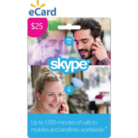 $25 USD Skype Credit Gift Card Voucher