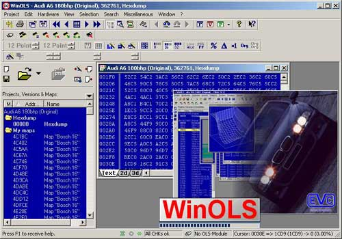 WinOLS 1.500 Program for chip tuning Car