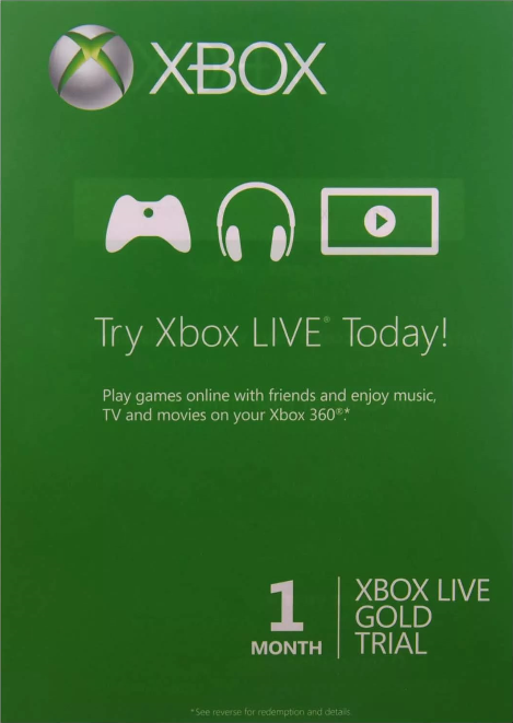 Xbox Live Gold 1 month (Xbox One | USA)