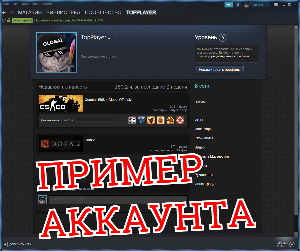 CS:GO account (400h +) CSGO PERSONAL!✅