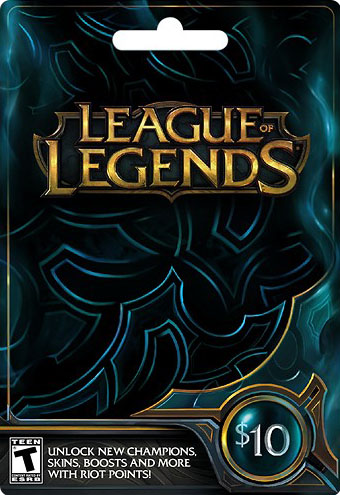 League of Legends Riot Points - 10 USD (1380 RP)