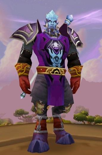 Tabard of the Arcane purple cape