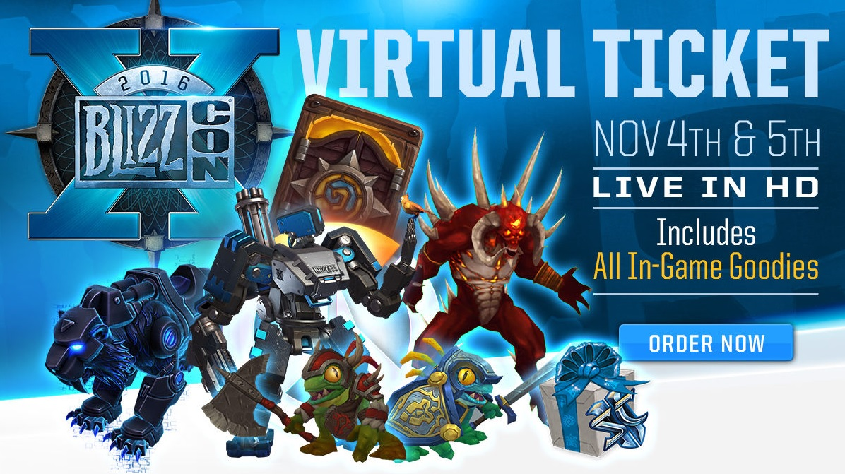 Blizzcon 2016 Virtual Ticket in-game goodies loot code