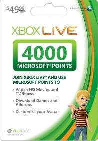 Xbox Gift Card 50$ - USA (= 4000 points)