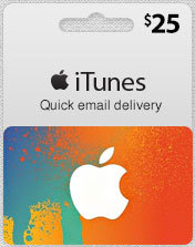 I☮ iTunes GIFT CARD $25 (USA)
