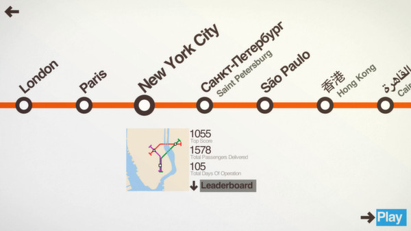 Mini Metro (Steam Gift, Region RU+CIS)