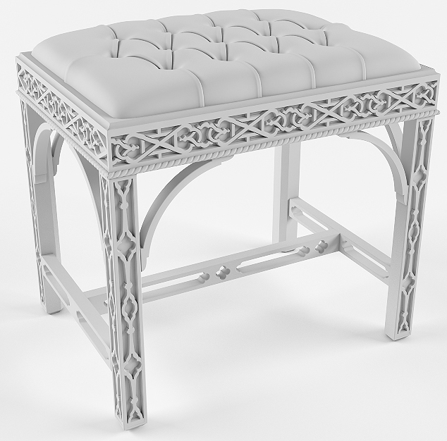 Stool carved from soft-top (drawings, software)
