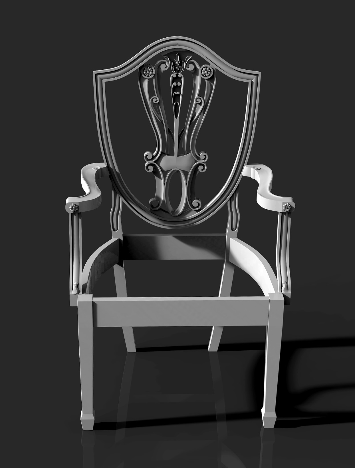 Chair with carved back