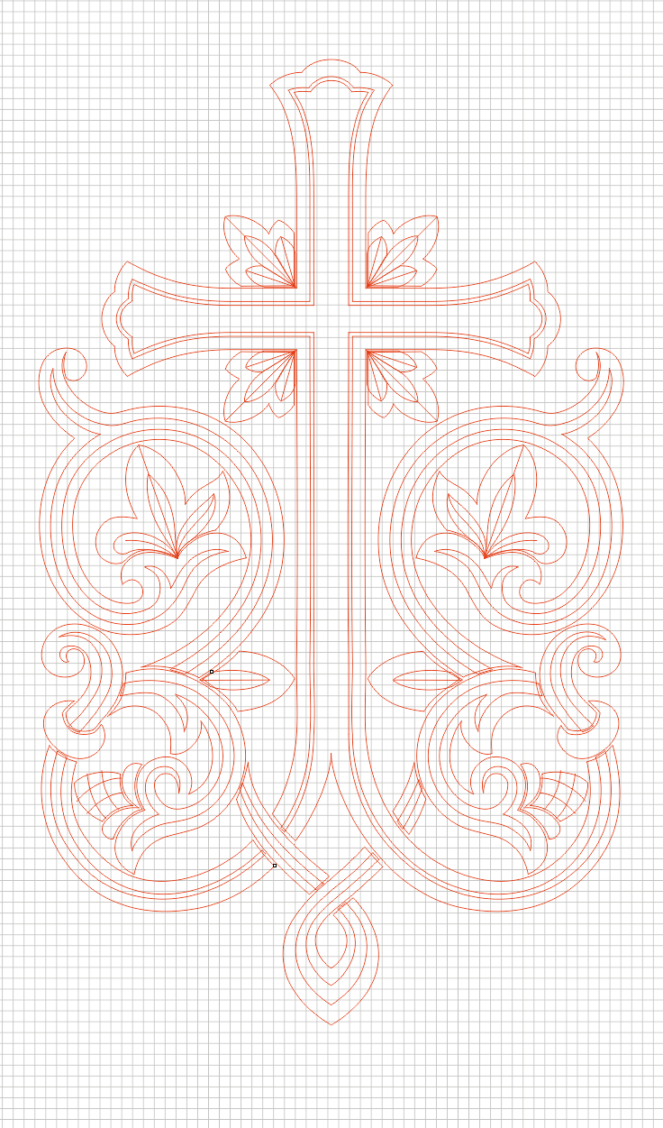 Cross_2 (vector for CNC machine)