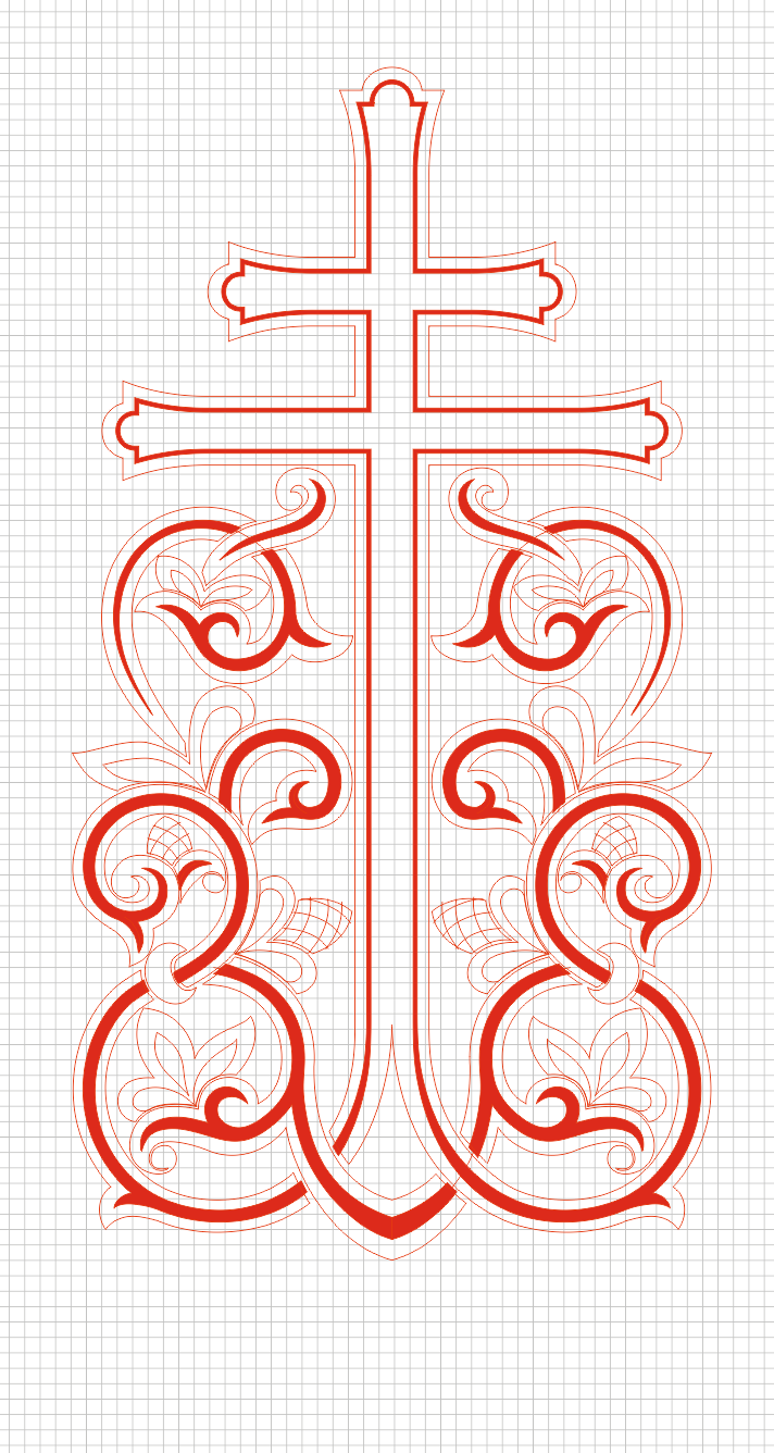 Cross_3 (vector for CNC machine)