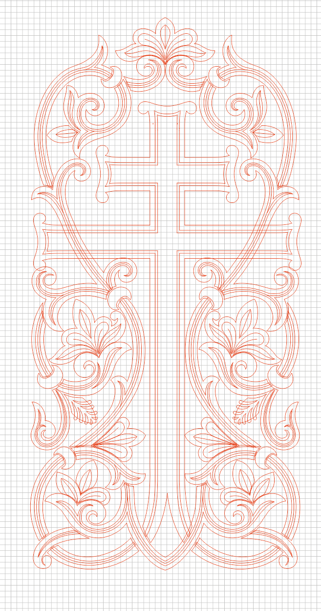 Cross_5 (vector for CNC machine)
