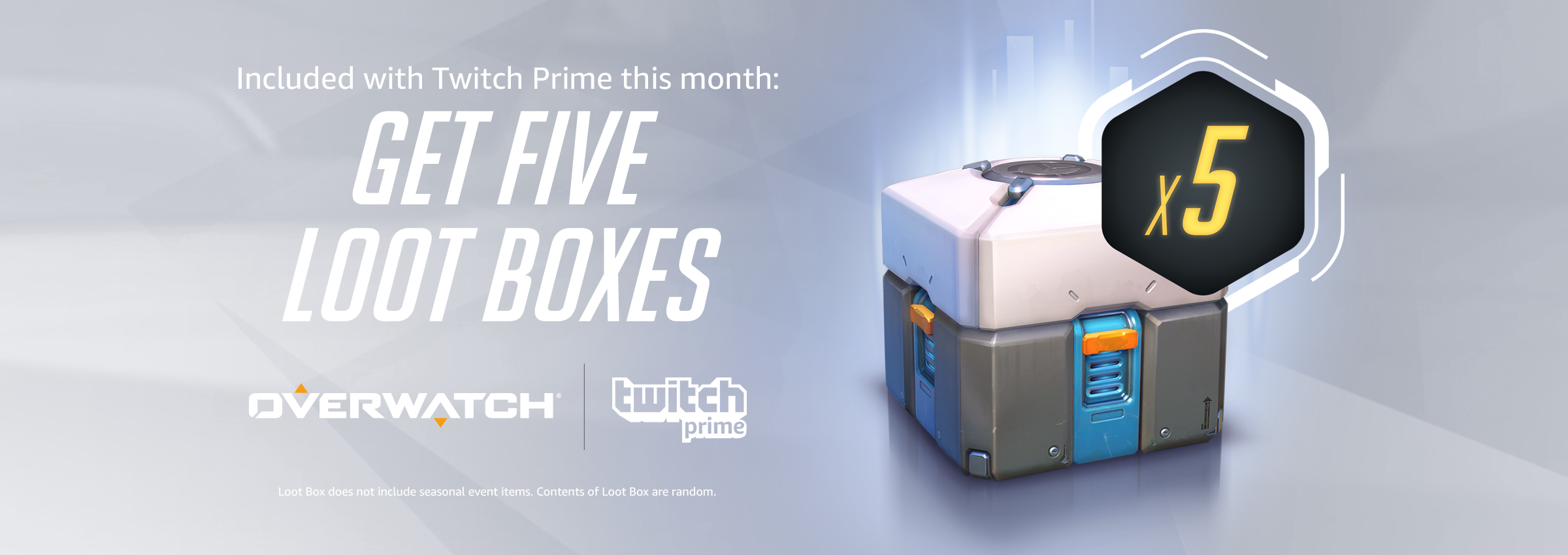 Overwatch-5 Loot Boxes (Twitch Prime) Key(Oct10-Nov10)