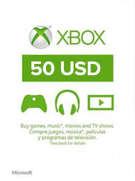 XBOX LIVE $50 PREPAID CARD US (CODE FROM CARD)