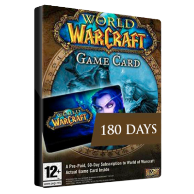 WoW of Warcraft 180 DAY TIMECARD EU
