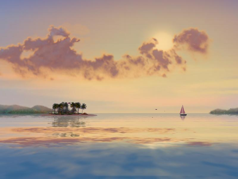 3D Tropical Sunsets Screensaver