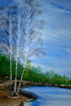 "The painting ""Three birches"""