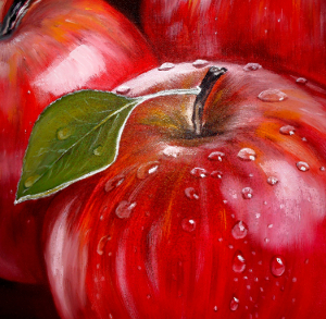 "The painting ""Red apples"""