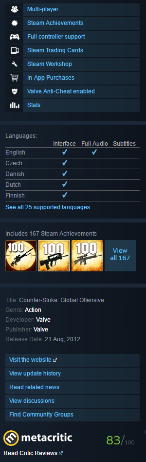 Counter strike global offensive steam gift free h qо таблетку для csgo