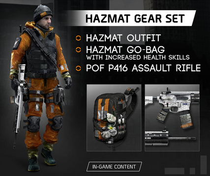 Tom Clancys The Division - Hazmat Gear Set DLC (Uplay)