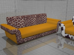 3D models of furniture, sofa Dylan