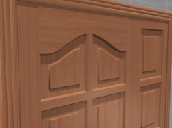 3D model of a wooden interior door