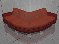 3D model of modular sofas Kalinka 26