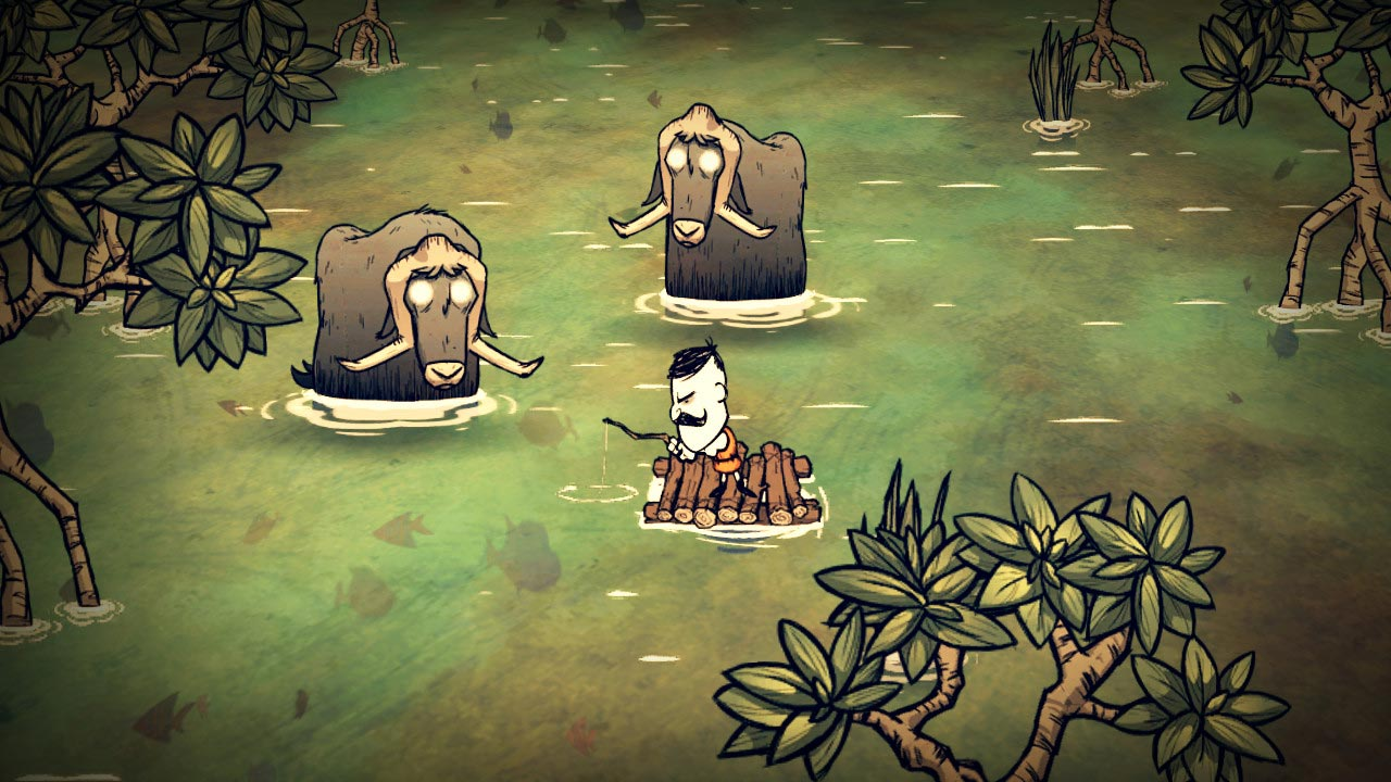 Dont Starve + Reign of Giants + Shipwrecked: Alone Pack