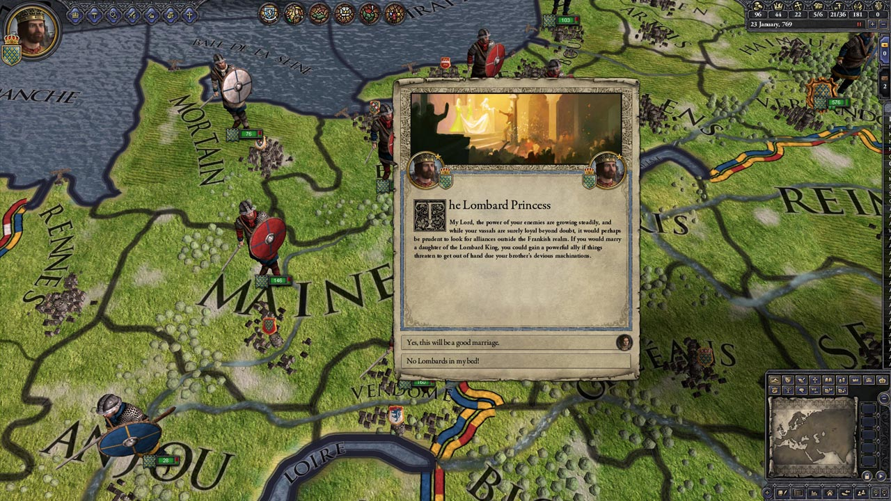 Crusader Kings II: Charlemagne (DLC) STEAM GIFT /RU/CIS
