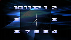 Blue Abstraction Clock activation code