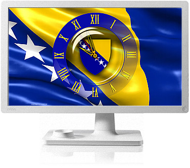Clock Flag Bosnia and Herzegovina code activation