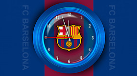 FC Barselona Clock Screensaver