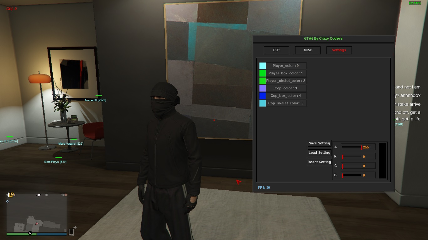 GTA 5 Private cheat Crazy Coders. Subscription 180 days