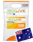 X-BOX® –AU/NZ– Prepaid Card - 1500 points