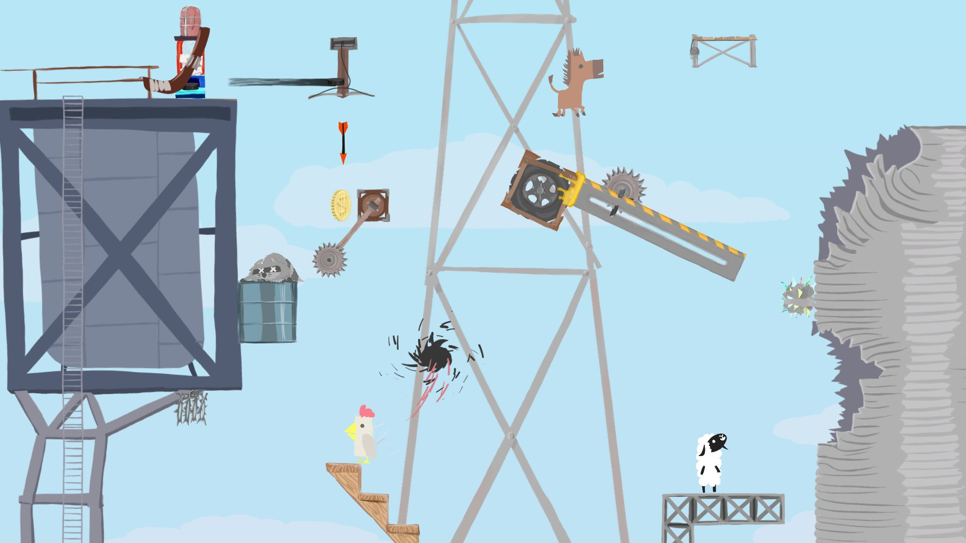 Ultimate Chicken Horse (Steam Gift/RU) + BONUS 2019
