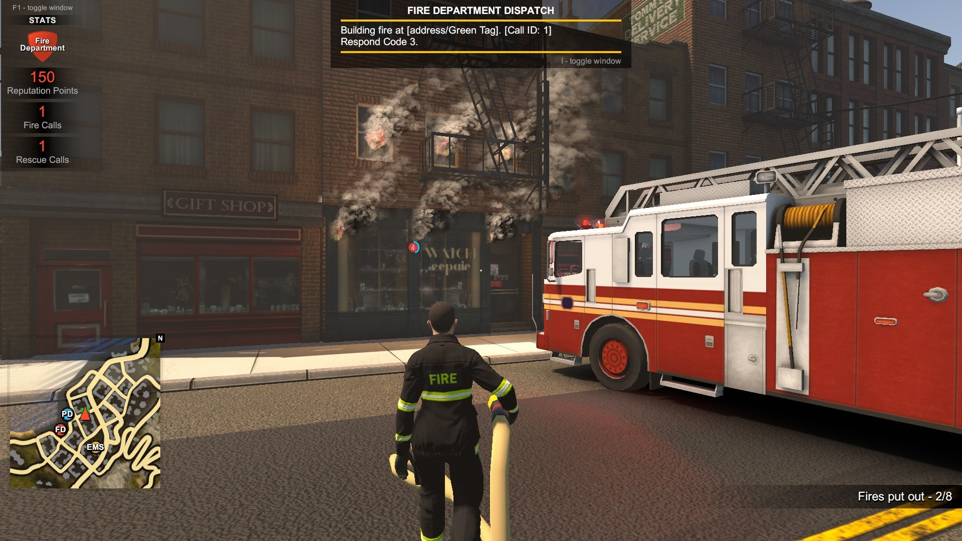 Flashing Lights - Police, Firefighting, Emergency Services Simulator (Steam Gift/RU) + BONUS 2019
