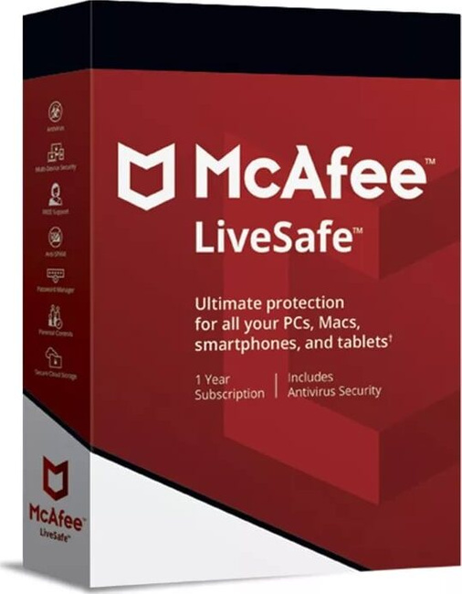 McAfee LiveSafe 1 USER 1 YEAR - Russia