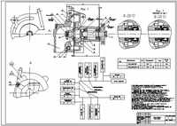 Assembly drawing water pump ICE + circuit assembly, AutoCad format