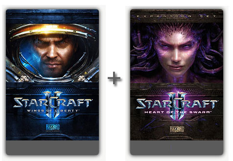 STARCRAFT 2 BATTLECHEST GLOBAL MULTILANGUAGE (WOL+HOTS)