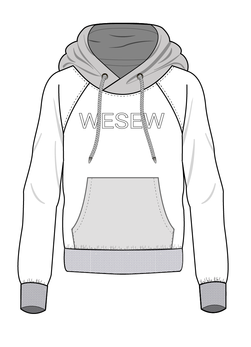 Ready-made pattern of men´s hoodies in large sizes