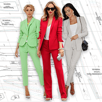 Pattern of female pantsuit 104-86-110