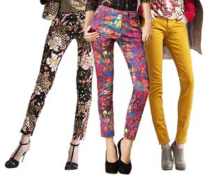 Pattern pants for girls with a waist circumference 70-7